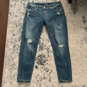 Women's Silver brand distressed jeans
